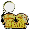 Брелок зеркальный на цветной подложке Очки вид 1 с символикой Вашего города - фото 57340