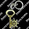 Брелок зеркальный на цветной подложке Ключ со штурвалом и символикой Вашего города - фото 57346