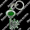 Брелок зеркальный на цветной подложке Ключ со штурвалом и символикой Вашего города - фото 57348