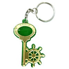 Брелок зеркальный на цветной подложке Ключ со штурвалом и символикой Вашего города - фото 57349