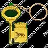 Брелок зеркальный на цветной подложке Ключ с гербом Вашего города  - фото 57359
