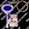 Брелок зеркальный на цветной подложке Ключ с гербом Вашего города  - фото 57360