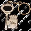 Брелок зеркальный на цветной подложке Ключ с гербом Вашего города  - фото 57362