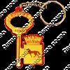 Брелок зеркальный на цветной подложке Ключ с гербом Вашего города  - фото 57365