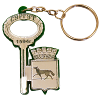 Брелок зеркальный на цветной подложке Ключ с гербом Вашего города  - фото 57366