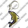 Брелок зеркальный на цветной подложке Дельфин Вид 1 - фото 57443