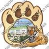Магнит 2-хслойный Лапа тигра с видами Вашего города вид 1 - фото 57618