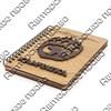 Блокнот деревянный с накладными элементами Медведь в лапе вид 2 с символикой Вашего города 50 листов - фото 57793