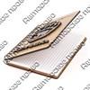 Блокнот деревянный с накладными элементами Медведь в лапе вид 2 с символикой Вашего города 50 листов - фото 57795