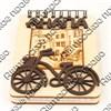 Магнит - блокнот деревянный с гравировкой и накладными деталями Велосипед с символикой Вашего города 50 листов - фото 57992