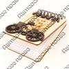 Магнит - блокнот деревянный с гравировкой и накладными деталями Велосипед с символикой Вашего города 50 листов - фото 57993