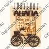 Магнит - блокнот деревянный с гравировкой и накладными деталями Велосипед с символикой Вашего города 50 листов - фото 57995