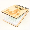 Магнит - блокнот деревянный с гравировкой Абориген с символикой Вашего города 50 листов - фото 58004