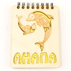 Магнит - блокнот деревянный с гравировкой Дельфины с символикой Вашего города 50 листов - фото 58008