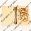 Блокнот А6 с гравировкой Слон 50 листов - фото 58063