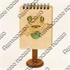 Магнит - блокнот А7 с гравировкой Лягушка 50 листов - фото 58084