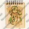 Магнит - блокнот А7 с гравировкой Слон 50 листов - фото 58089