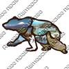 Магнитик 2-хслойный Силуэт медведя вид 1 с символикой Вашего города - фото 60976