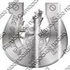 Магнит зеркальный Капитан в подкове с символикой Вашего города - фото 65099