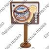 Магнит Проигрыватель с зеркальной фурнитурой и символикой Вашего города - фото 66427