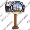 Магнит Фотоаппарат с зеркальной фурнитурой и символикой Саранска - фото 69833