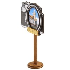 Магнит Фотоаппарат с зеркальной фурнитурой и символикой Саранска - фото 69834