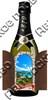 Магнит с подвижными деталями Бутылка с символикой Абрау-Дюрсо - фото 70391