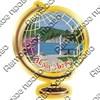 Магнит Глобус с символикой Абрау-Дюрсо - фото 70394