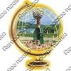 Магнит Глобус с символикой Абрау-Дюрсо - фото 70395