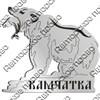 Магнит на холодильник Медведь с рыбой и символикой Камчатки - фото 72285