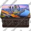 Шкатулка малая резная со смолой с видами, достопримечательностями или символикой Вашего города - фото 72692