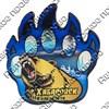 Магнит сувенирный со смолой Лапа медведя с видами, достопримечательностями или символикой Вашего города - фото 73273
