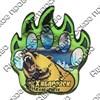 Магнит сувенирный со смолой Лапа медведя с видами, достопримечательностями или символикой Вашего города - фото 73274
