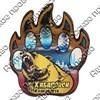 Магнит сувенирный со смолой Лапа медведя с видами, достопримечательностями или символикой Вашего города - фото 73276