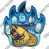 Магнит сувенирный со смолой Лапа медведя с видами, достопримечательностями или символикой Вашего города - фото 73278
