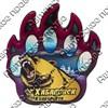 Магнит сувенирный со смолой Лапа медведя с видами, достопримечательностями или символикой Вашего города - фото 73280