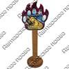 Магнит сувенирный со смолой Лапа медведя с видами, достопримечательностями или символикой Вашего города - фото 73284