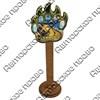 Магнит сувенирный со смолой Лапа медведя с видами, достопримечательностями или символикой Вашего города - фото 73286