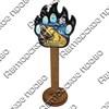 Магнит сувенирный со смолой Лапа медведя с видами, достопримечательностями или символикой Вашего города - фото 73290