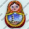 Купить шкатулку сувенирную из дерева Матрешка с видами города 2 - фото 8803